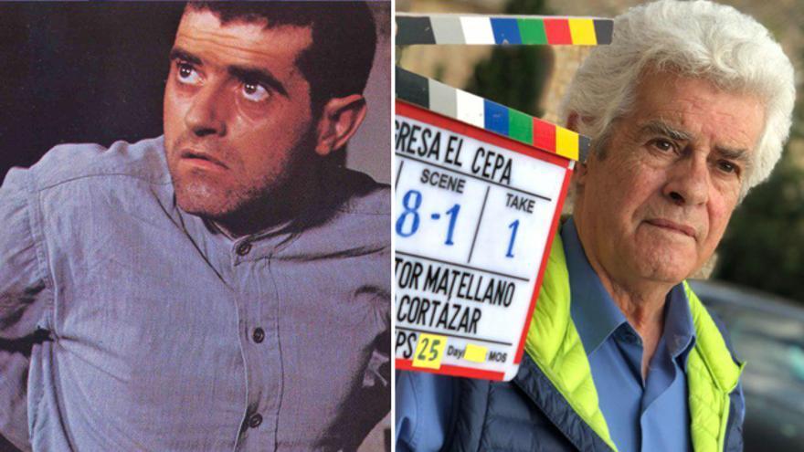 Guillermo Montesinos como El Cepa y, cuarenta años después, durante el rodaje del documental