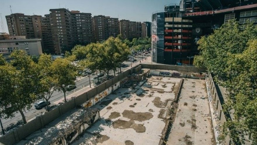 Solar del ayuntamiento junto al estadio de Mestalla.