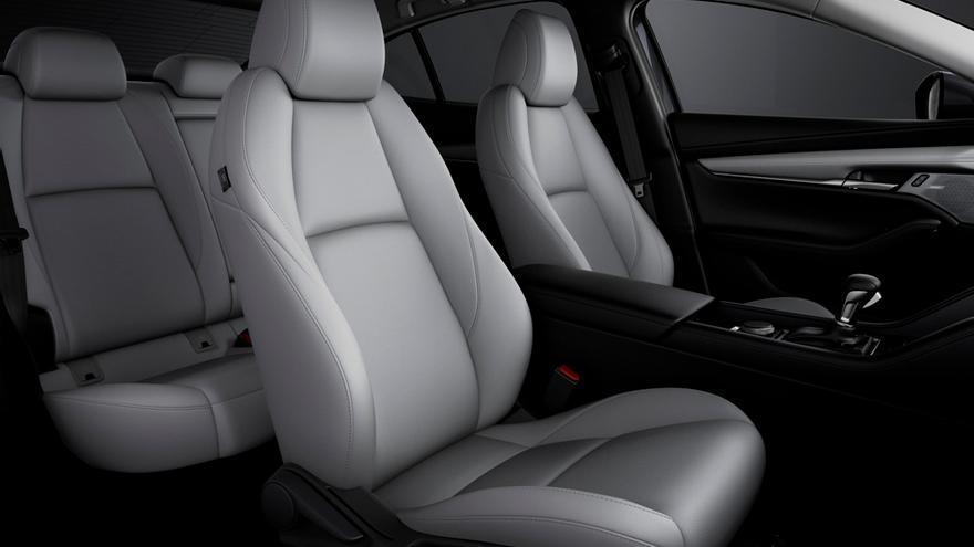 Los nuevos asientos del Mazda3 han sido diseñados para permitir al conductor una visibilidad mayor y más intuitiva.