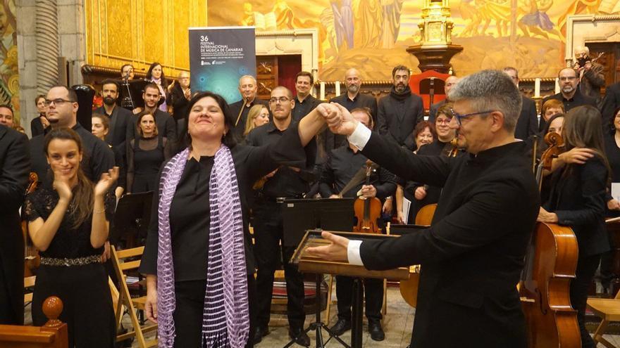 Tania Lorenzo, soprano, tras interpretar el 'Requiem' de Fauré en la Iglesia de San Francisco de Asis