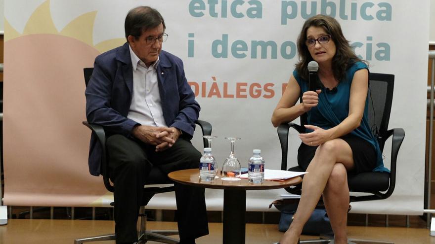 La vicepresidenta Mónica Oltra durante su participación en el foro 'Diàlegs d'Estiu'