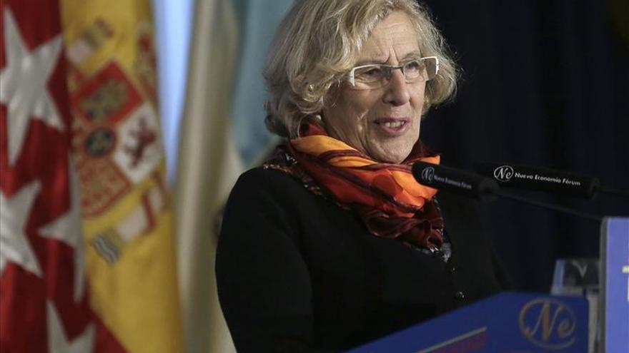 """Carmena se declara """"contenta"""" con el trabajo que realiza en el Ayuntamiento"""