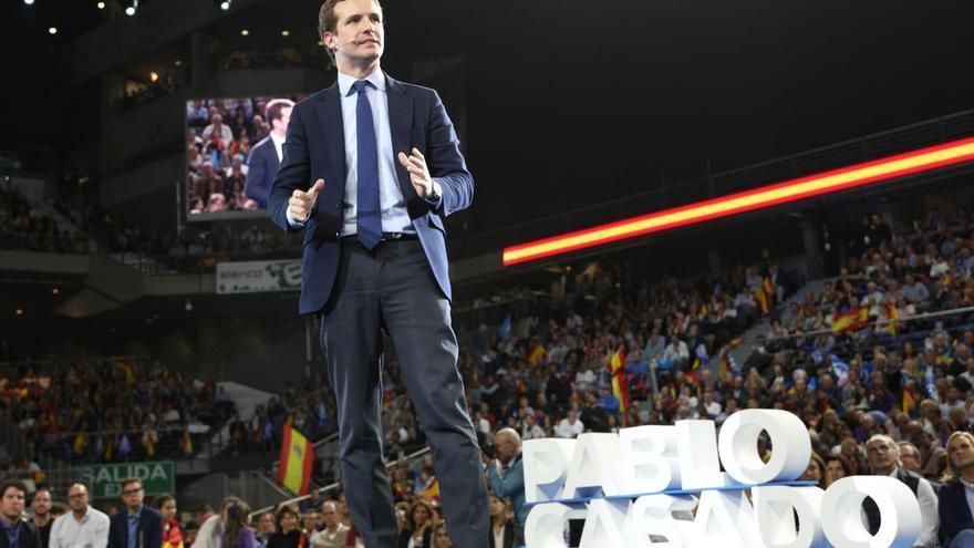 """Casado apela a los votantes de Vox: """"Hay que pensar el voto con la cabeza y tener a España en el corazón"""""""