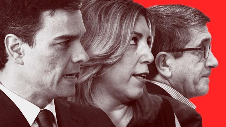 Pedro Sánchez, Susana Díaz y Patxi López. (EUROPA PRESS)