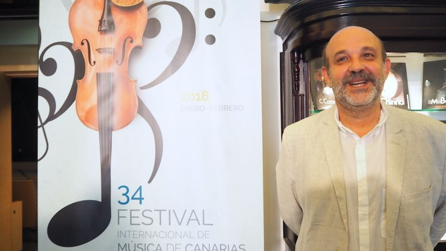 El director del Festival Internacional de Música de Canarias, Jorge Perdigón.