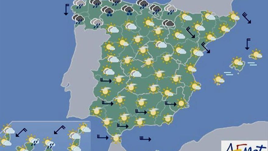 Las temperaturas descenderán hoy en todo el país