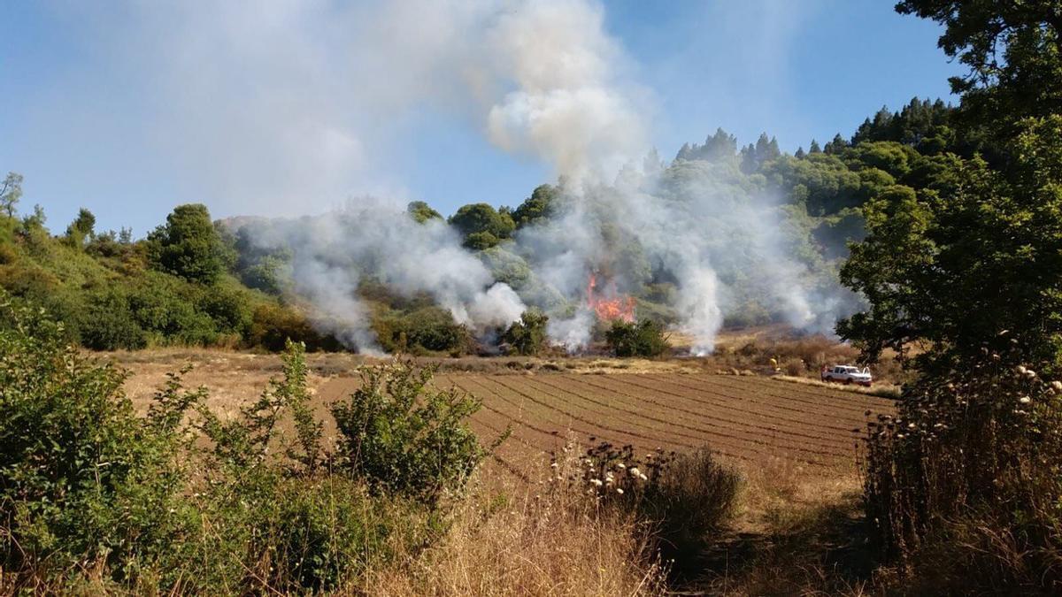 Conato de incendio en Calderetas, Valleseco