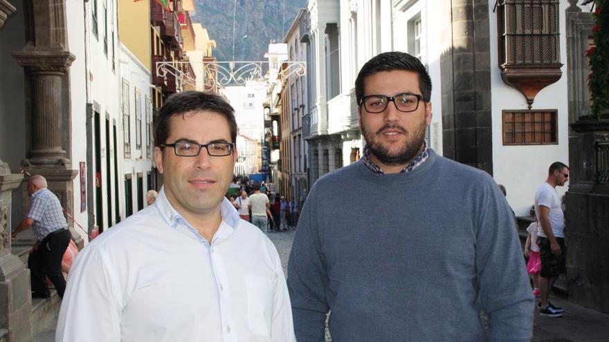 Javier Brito (i) y Rayco Arrocha.