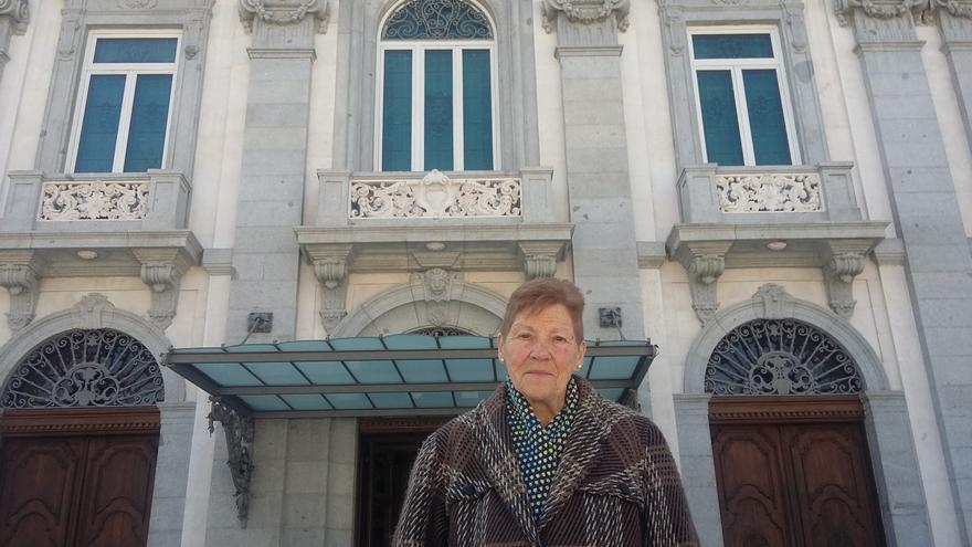 Pepita Martí, el pasado martes, frente al Tribunal Constitucional