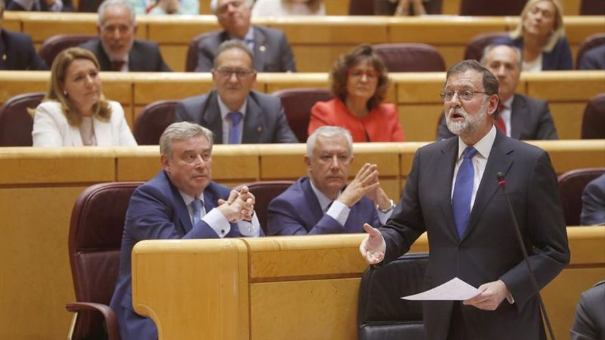 Rajoy aborda hoy el desafío separatista en la sesión de control del Senado