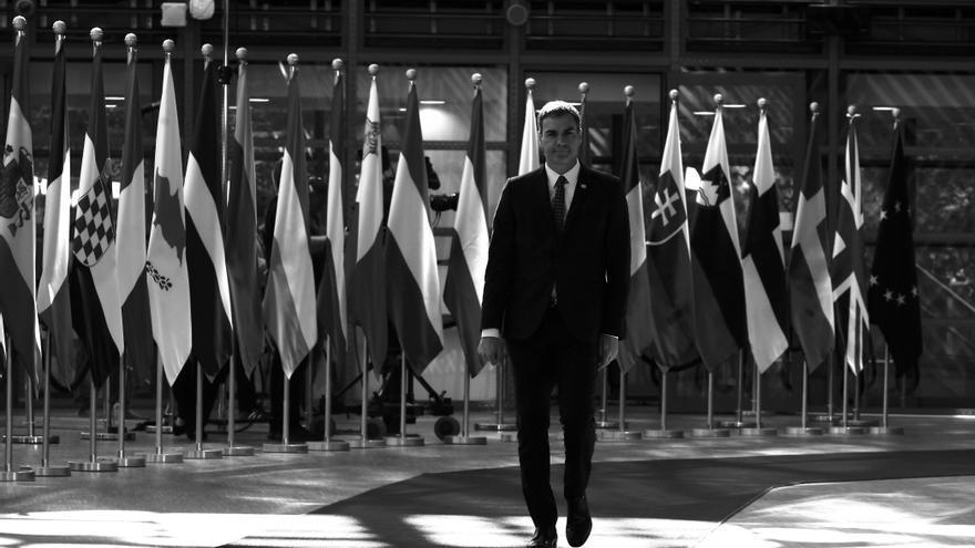 Pedro Sánchez en el segundo día de la cumbre de la UE en Bruselas.