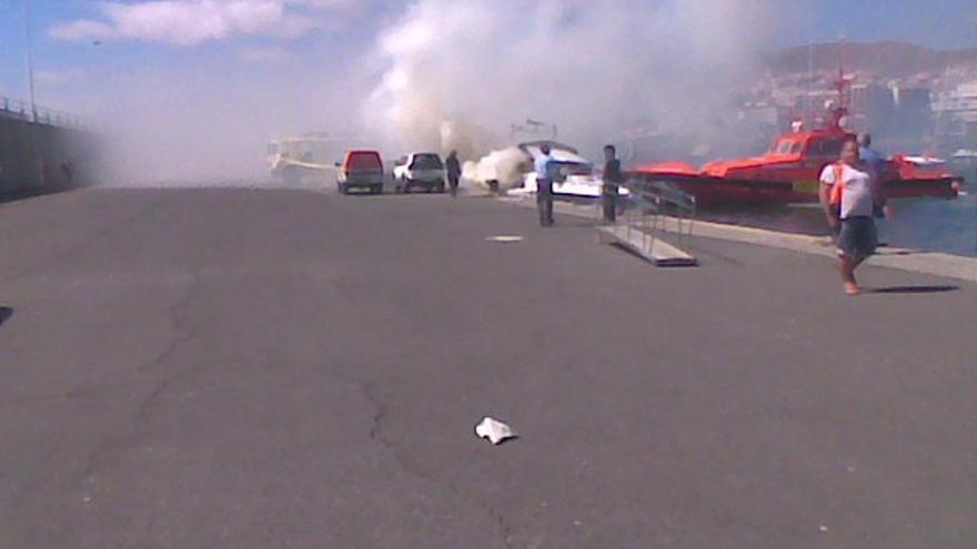 Del incendio de la embarcación #4