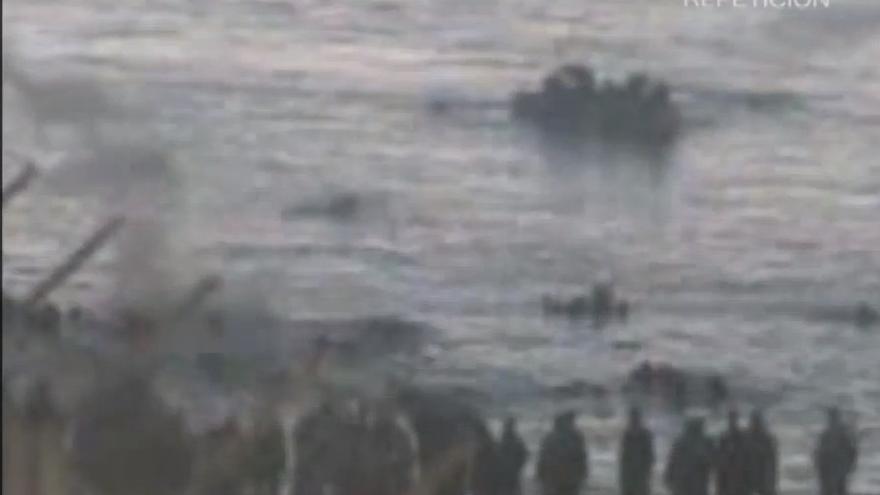 Zona del impacto del bote de humo, en las aguas marroquíes donde se produjeron las muertes