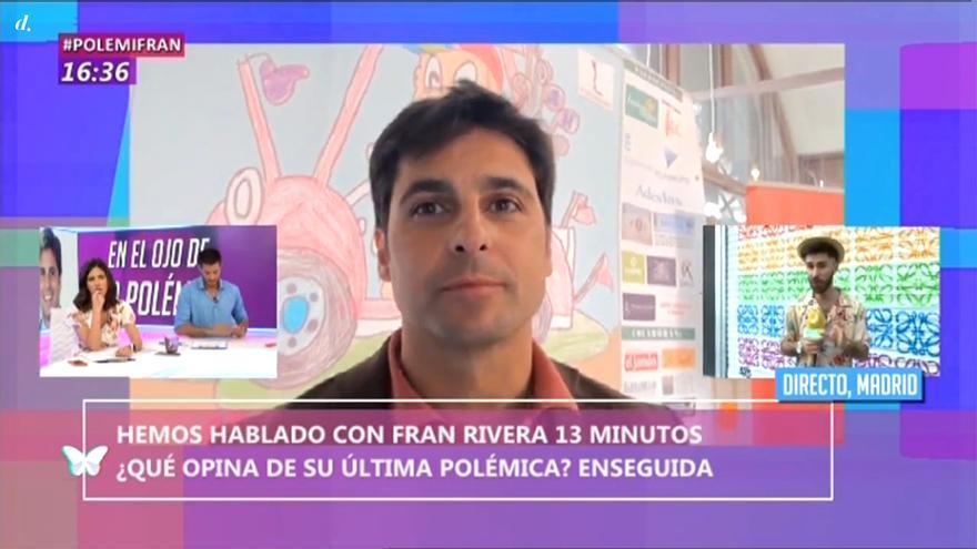 """Fran Rivera vuelve a pronunciarse sobre el Orgullo: """"Te aseguro que no hay nadie menos homófobo que yo"""""""