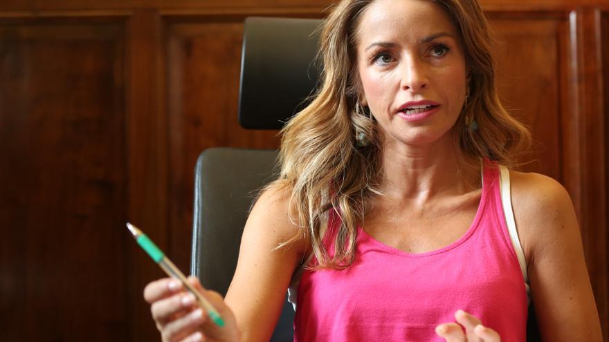 Patricia Reyes, durante la entrevista
