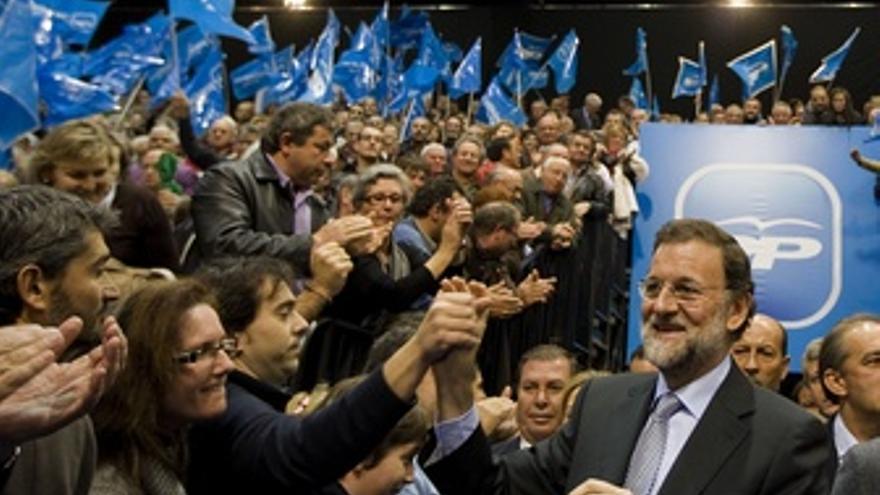 Mariano Rajoy En Un Mitin De Vigo