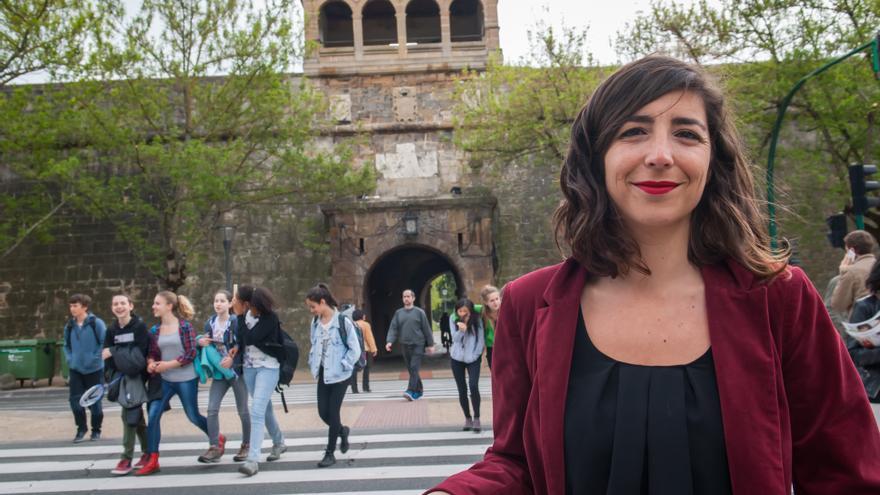 La secretaria general de Podemos en Navarra, Laura Pérez Ruano.