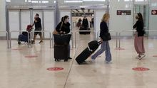 Zona de llegadas de la Terminal 4 del Aeropuerto de Madrid-Barajas Adolfo Suárez.