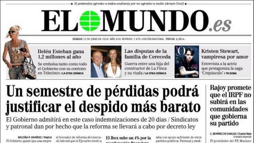 De las portadas del día (12/06/2010) #5