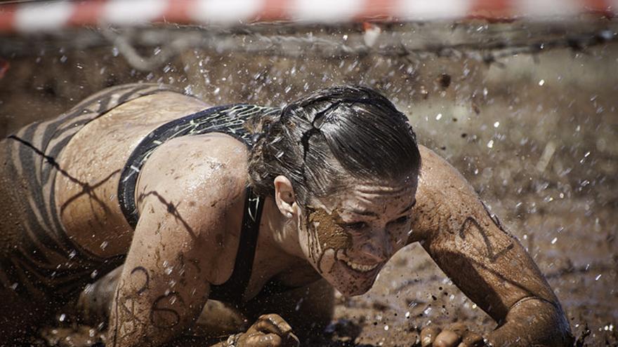 Imagen de archivo de una participante en la prueba 'Lo Natural Extremo' de Garafía.
