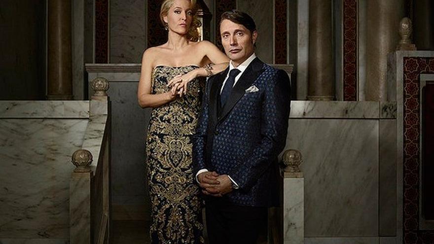 Gillian Anderson y Mads Mikkelsen en 'Hannibal'