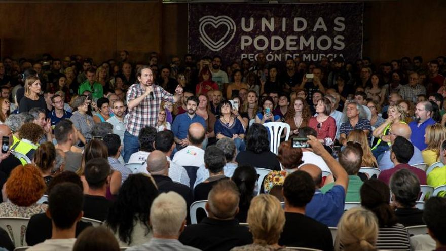 Pablo Iglesias, durante un acto en Murcia este viernes.