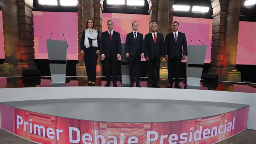 López Obrador sometido a un fuerte asedio dialéctico en el debate presidencial