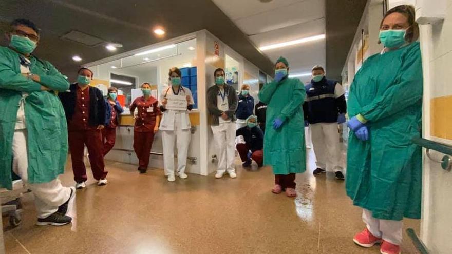 Sanitarios del Hospital General de La Palma.