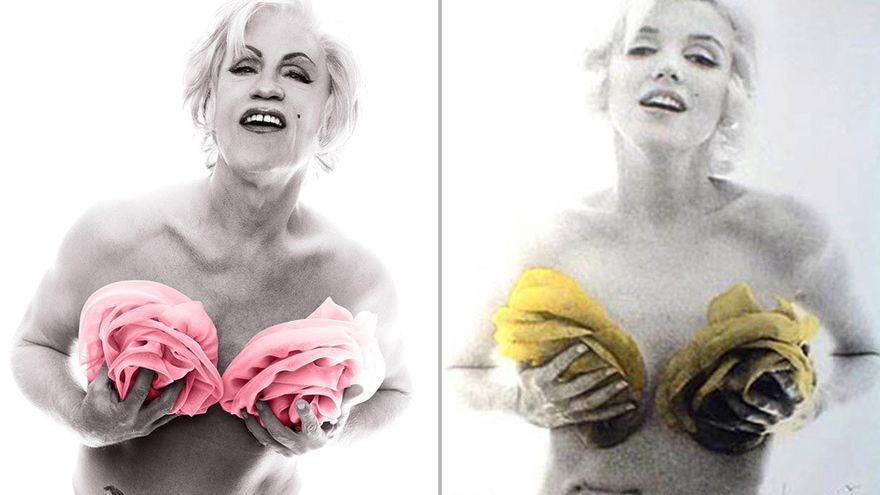 'Bert Stern / Marilyn in Pink Roses (from The Last Session, 1962), 2014'/ Sandro Miller: Malkovich, Malkovich, Malkovich (Catherine Edelman Gallery)