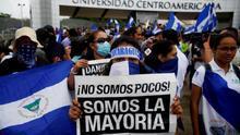 """Estudiantes universitarios exigen la libertad de los """"presos políticos"""" en Nicaragua"""