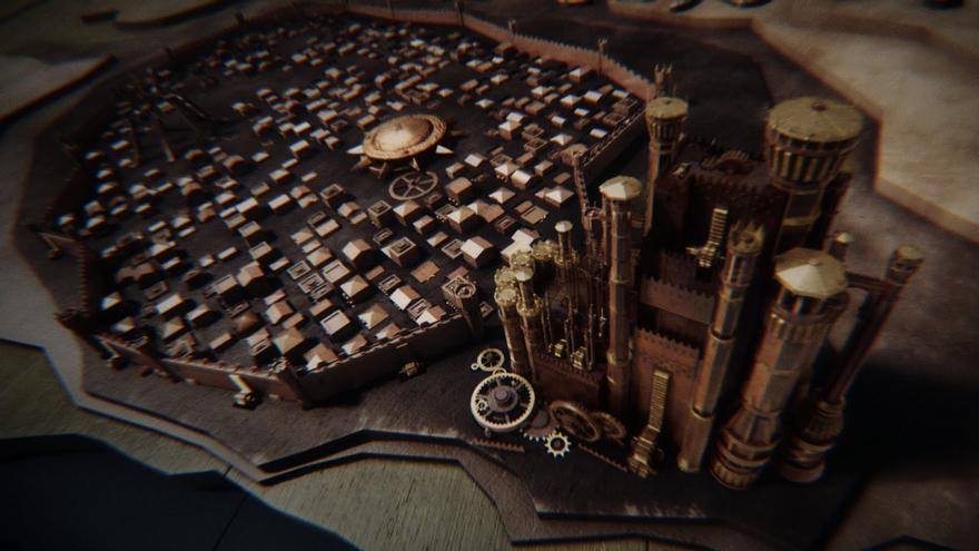 El espectador sobrevolando Desembarco del Rey en la cabecera creada por Elastic