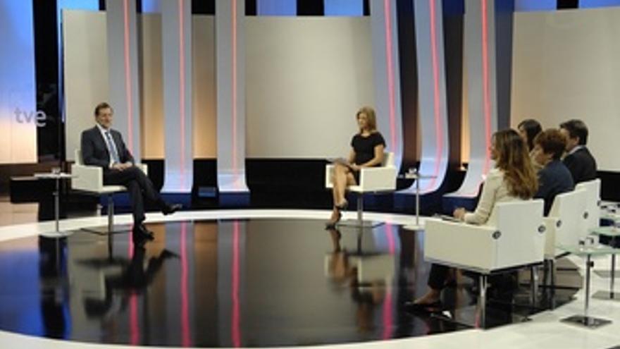 Mariano Rajoy en su primera entrevista a TVE como presidente