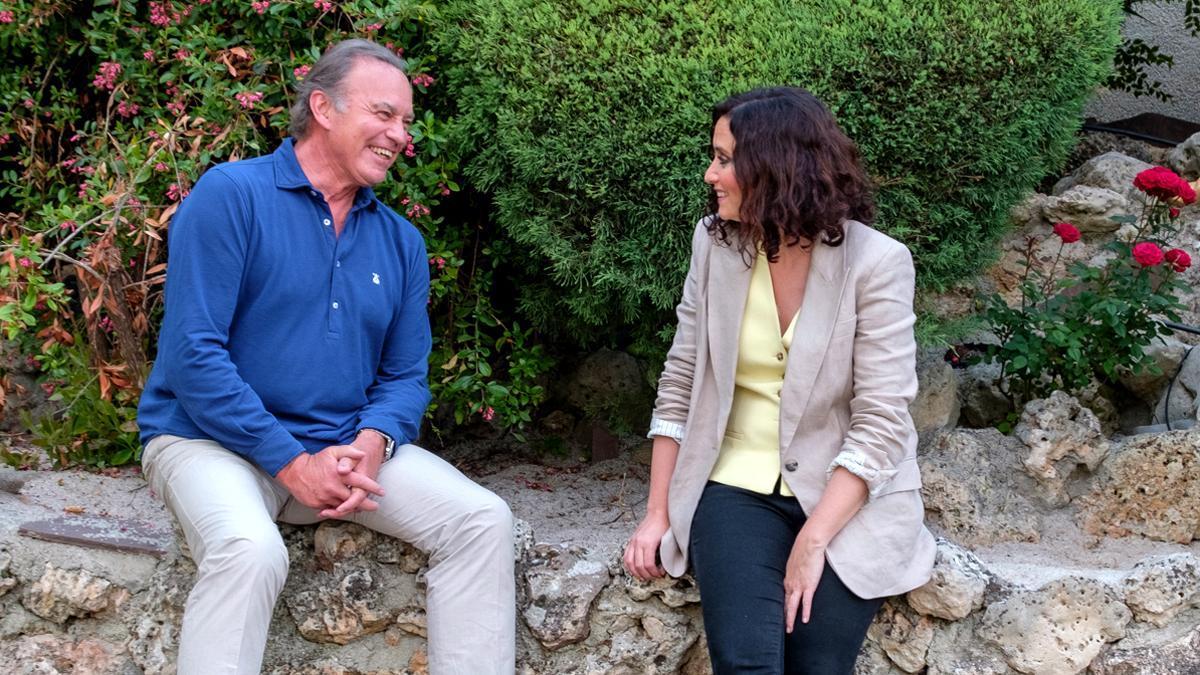 Bertín Osborne e Isabel Díaz Ayuso en 'Mi casa es la tuya'