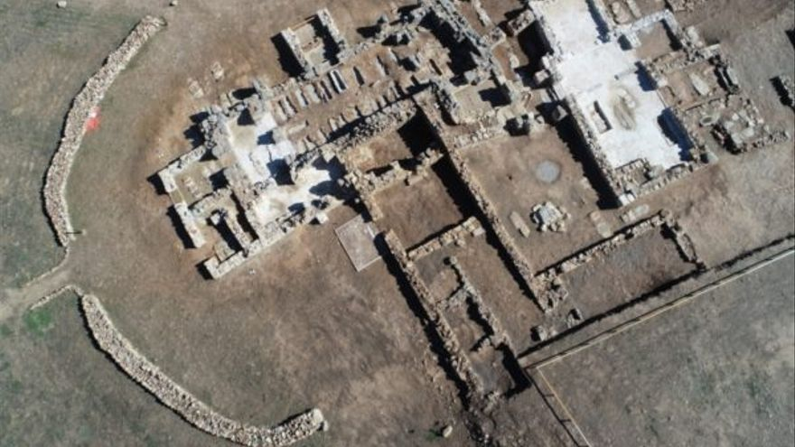 Imagen aérea del yacimiento visigodo de Los Hitos