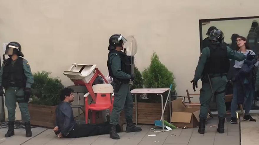 Imagen de la detención en Fonollosa