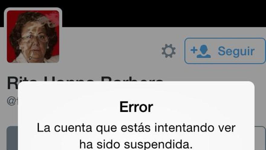 El perfil de @truita_barbera ha sido suspendido