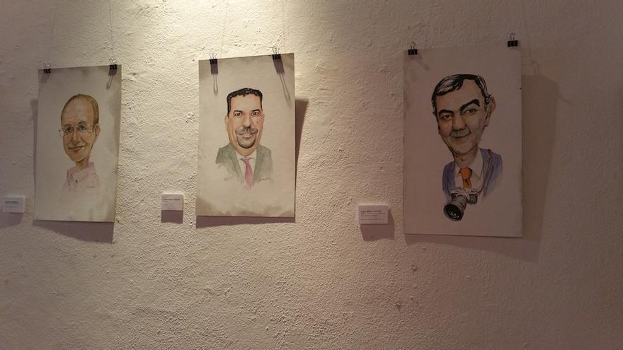 Sergio Rodríguez, Juan José Cabrera y Juan Arturo Sangil. Foto: LUZ RODRÍGUEZ.