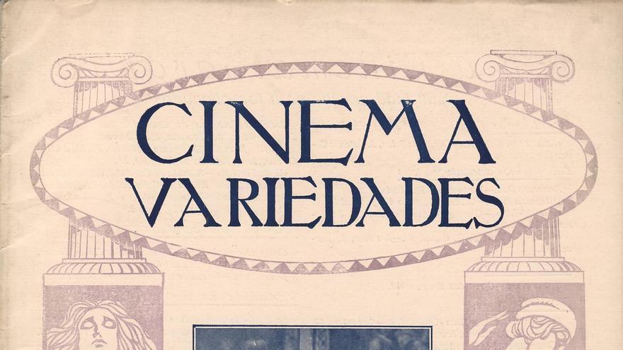 Portada de la revista 'Cinema y Variedades', que promociona 'Flor de España o la leyenda de un torero', dirigida, producida e interpretada por Elena Cortesina (a la derecha) (Imagen: 'Cinema y Variedades | Cedida por Begoña Soto)