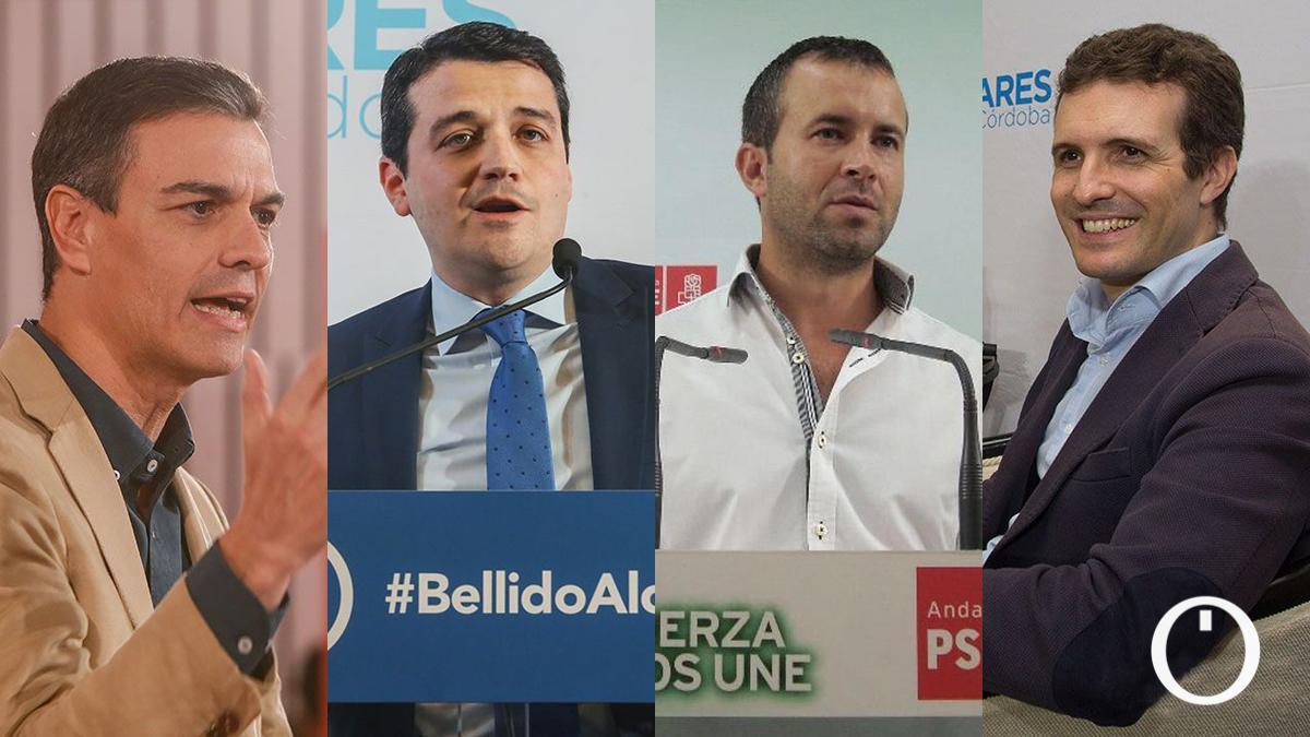 Sánchez, Bellido, Millán y Casado: línea interrumpida desde el PSOE al PP.
