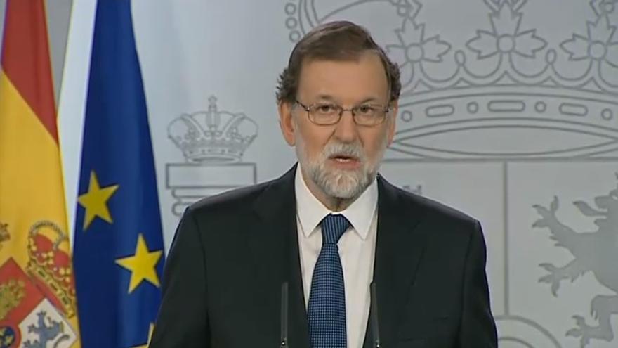 """Rajoy sitúa como únicos responsables a los que han violado la ley: """"Hemos cumplido con nuestra obligación"""""""