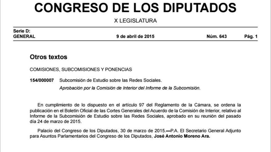 Informe Redes sociales Congreso