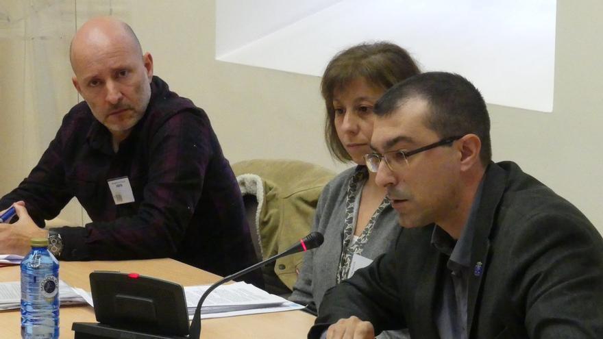 Manuel Pereira (izquierda), Pilar Rodríguez y Eduardo Díaz