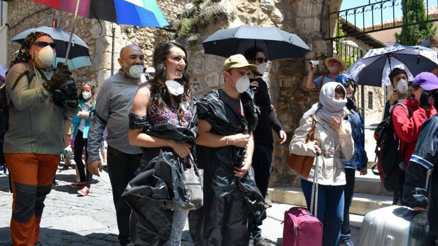 """Cuenca se convierte en un """"plató de cine"""" para pedir un cambio en el modelo energético europeo"""