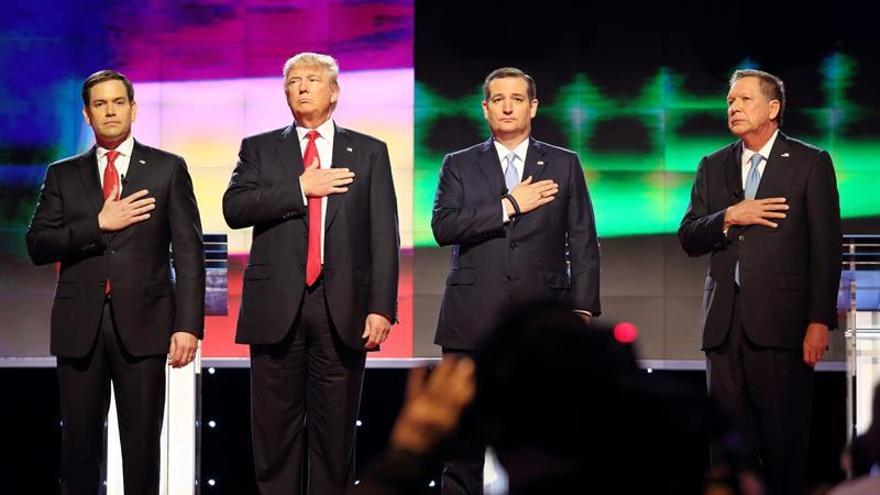 Trump y rivales republicanos rebajan tono en debate más sobrio hasta la fecha