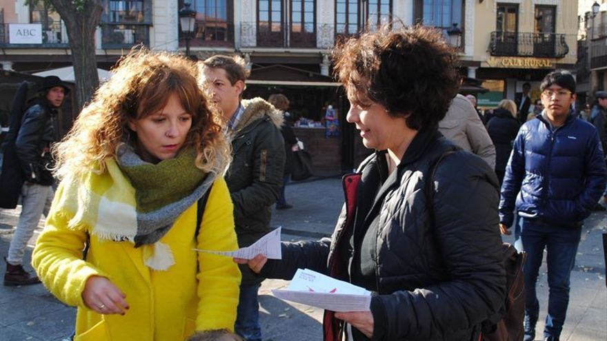 La candidata de Podemos Gloria Elizo en un acto en Toledo / Podemos