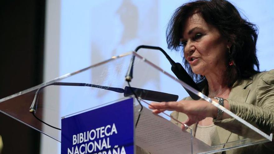 Carmen Calvo: Las mujeres de ahora somos corresponsales de guerra