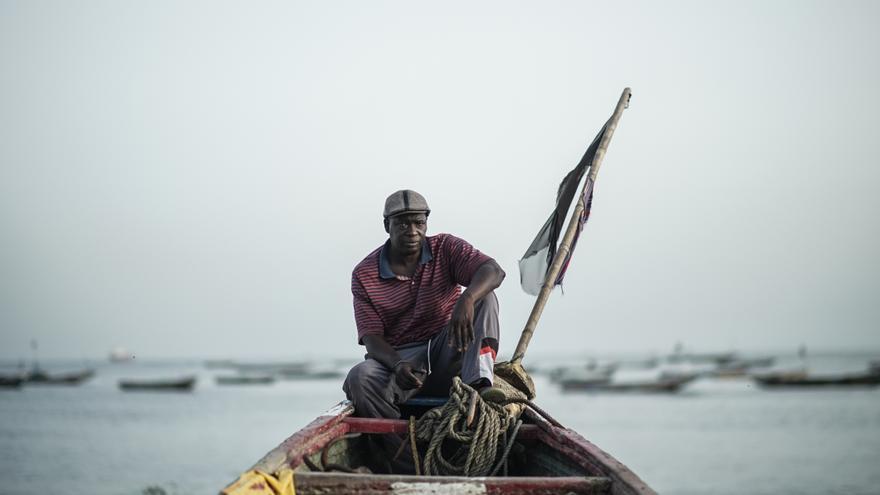Moustapha Diouf preside una asociación de deportados en Thiaroye sur Me