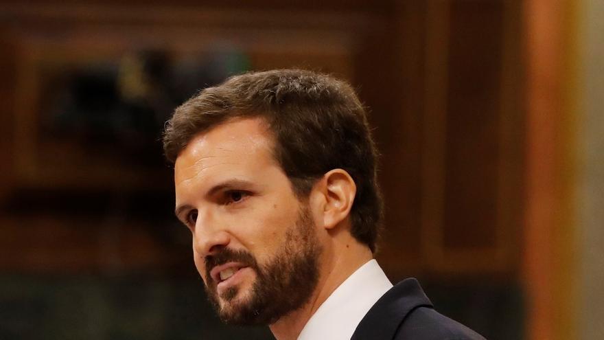 """Casado dice que Sánchez """"no puede tapar su engaño"""" tras el pacto con Bildu y ve a sus ministros """"en guerra interna"""""""