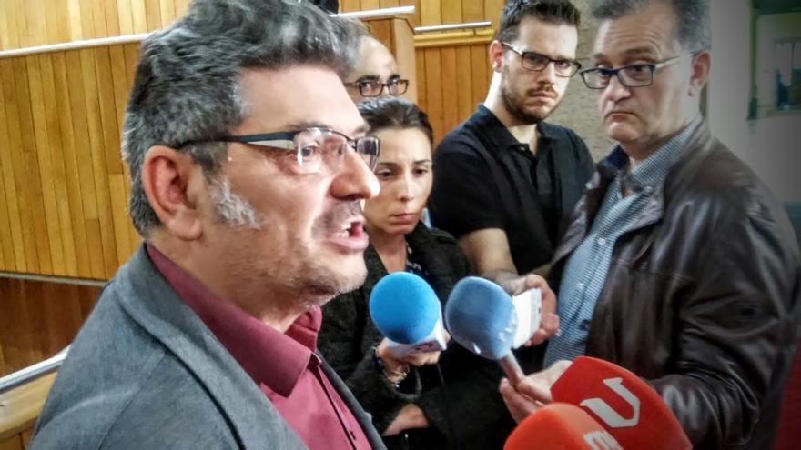 Henrique Costas, este miércoles en el Parlamento de Galicia