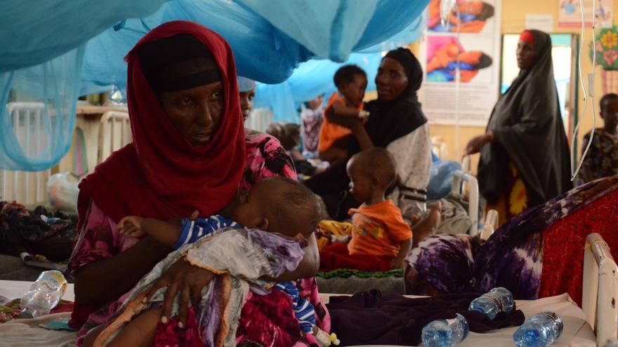 El área de maternidad del campo de refugiados está siempre repleto de mujeres: cada mes hay cerca de 50 nacimientos. / Sabina de Vicente.